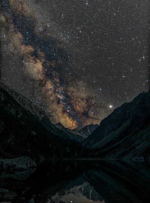Milky Way at Gaube lake (Pyrénées, France),                                Olivier Ravayrol