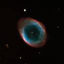 M57 Ring Nebula LRGB test,                                Vasilije Ristovic