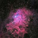 IC 405 - Flaming Star Nebula (HaRGB),                                David Andra