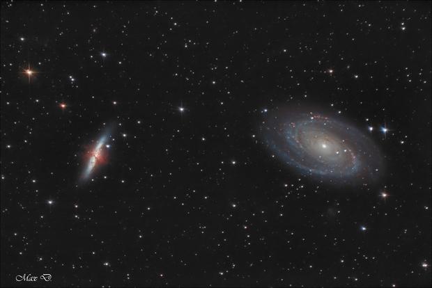 M81 and M82,                                Spoutnik17