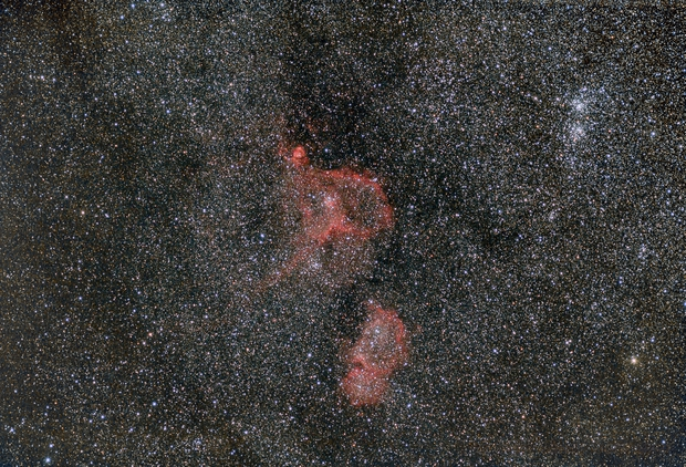 IC1805   IC1848 Heart and Soul widefield,                                Volker Gutsmann