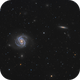Messier 100 (NGC 4321) and NGC 4312 in Coma Berenices,                                Steve Milne