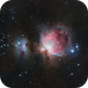 Orion and Running Man Nebulae,                                stricnine