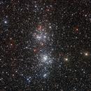 Perseus double cluster,                                Dave & telescope