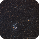 NGC457 Dragonfly Cluster and NGC436 Star Cluster in LRGB,                                Kayron Mercieca