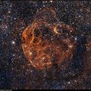 Sh2-240, Spaghetti Nebula, HO Bicolor, 19 Dec 2017,                                David Dearden