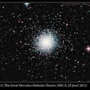 M13, The Great Hercules Globular Cluster,                                David Dearden