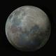 Colored super moon 2020 in 3D technique,                                Christoph Lichtblau