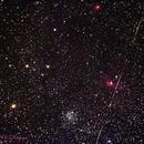 M52, the Bubble Nebula & a tumbling Satellite,                                John O'Neal, NC Stargazer