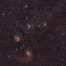 M38 & Flaming Star Nebula,                                David McClain