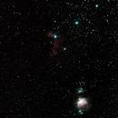 Nebulas in Orion - M42, M43, Horse Nebula, M78.,                                Star Hunter