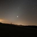 Lumière zodiacale sur le Plateau de Beille dans les Pyrénées,                                Philastro