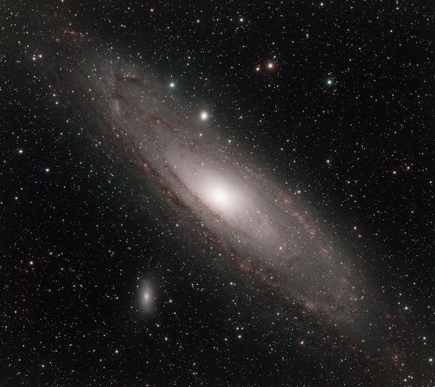 M31 in narrowband,                                David Johnson