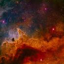 IC1848  Soul-Nebula detail,                                László Szeri