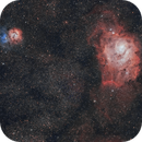 M8 and M20,                                Blueastrophotography
