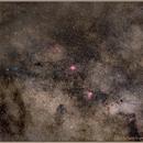 Eagle M16 and Omega M17 Nebulas among all them stars,                                Aarni Vuori