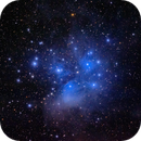 M45, The Pleiades in natural color,                                Roger Clark