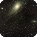 M31 Andromeda Galaxy with Bahtinovic field stars,                                StarGale