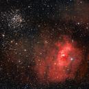 M52 and the Bubble Nebula,                                John Landreneau