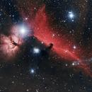 Ic434 - nébuleuse de la tête de cheval et de la flamme (version2),                                astromat89