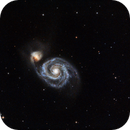 M51 LRGB, binned color,                                bobzeq25