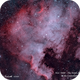 NGC 7000 & IC 5070 - The North America and Pelican Nebulae  HOO,                                Paul Borchardt