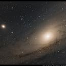 Dunkelwolken in M31 - eine Testaufnahme,                                Wolfgang Ransburg