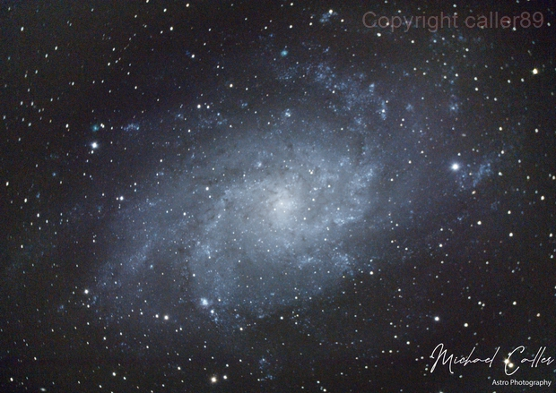 M33 The Triangulum Galaxy,                                Michael Caller
