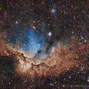 The Wizard Nebula in SHO With RGB Stars,                                Scott