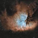 NGC 281 - Pacman in sienna-blue,                                pete_xl