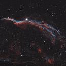 NGC 6960 Western Veil Nebula 20201215 4800s Ha-OIII 01.6.3,                                Allan Alaoui