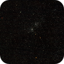 Persei Double cluster under full moon / Canon 600D + Canon 200mm f/2.8  / SW  star adventurer / 400 iso,                                patrick cartou