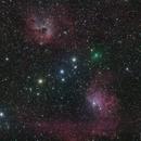 Comet C/2020 M3 ATLAS, IC 405 and IC 410,                                José J. Chambó