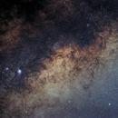 M7, M8, M20 on Milky Way,                                Harold Freckhaus