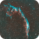 C 33 Eastern Veil Nebula-Ha-HOO-Meade 80 ED triplet-Orion flattener-ASI 1600 MM-Pro,                                Adel Kildeev