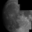 Mosaïque partielle de la Lune, par une nuit sans turbulence,                                nzv