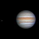 Jupiter, Callisto, Europa with shadow & Ganymede,                                David Cheng
