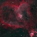 IC1805 - The Heart Nebula in Narrowband,                                Eshan Toorabally