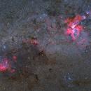 Running Chicken Nebula and  Carina Nebula,                                Atsushi Ono