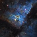 Carina Nebula in Hubble Palette,                                Mauricio Christiano de Souza