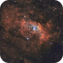 Bubble Nebula (NGC 7635) in the Hubble Palette,                                Chuck's Astrophotography