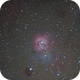 Trifid Nebula first attempt at DSO with Prismv10,                                Scott Iver