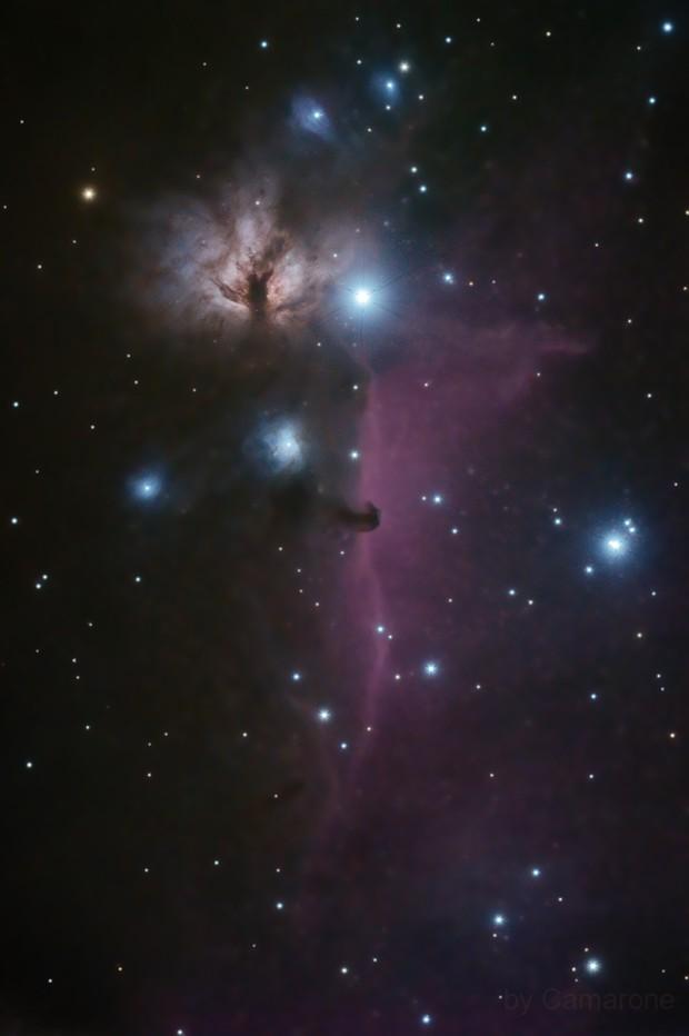 IC 434 & NGC  2024, Horsehead  Nebula & The Flame Nebula,                                Camarone