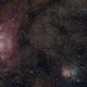 M8 und M20 - Lagunennebel und Trifidnebel,                                Stefan Benz