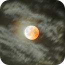 Lunar Eclipse ending with clouds (HDR),                                Andrea Storani