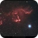 IC 63, IC59 and Gamma Cassiopeiae HaRGB,                                Mike Oates