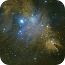 Fox Fur Nebula/Cone Nebula Medium Field in HSO Blend,                                mikefulb