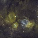 SH2-157 Bubble Nebula M52 Region Wide Field In SHO,                                mikefulb