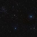 NGC 1528 & 1545 under nearly full moon,                                Tromat