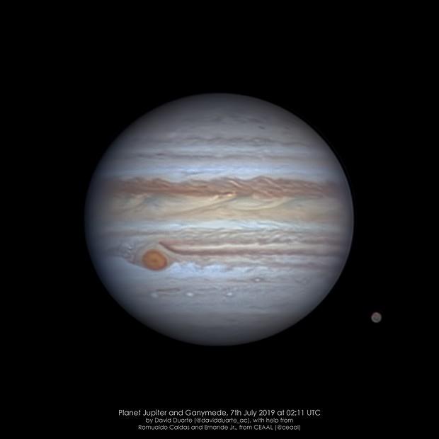 Jupiter on 7th July 2019,                                David Duarte